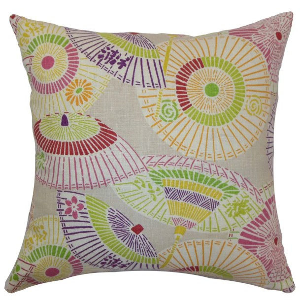 Ayesa Umbrella Throw Pillow Color: Confetti, Size: 24