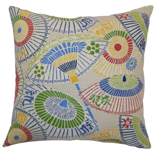Ayesa Umbrella Throw Pillow Color: Primary, Size: 22