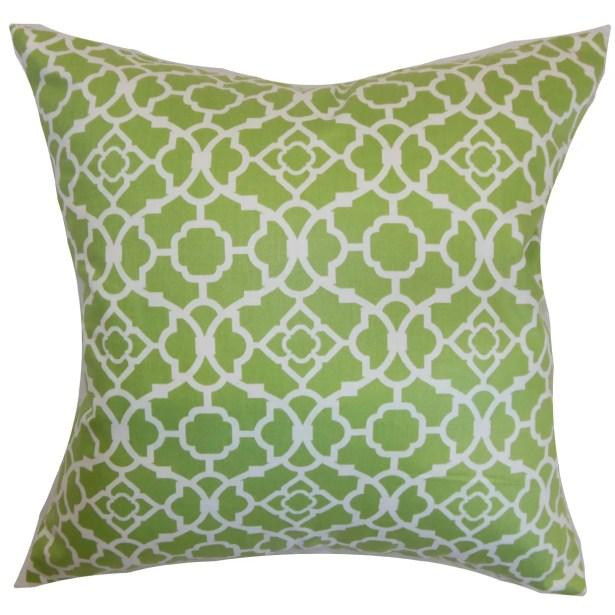 Kalmara Cotton Throw Pillow Color: Green, Size: 24