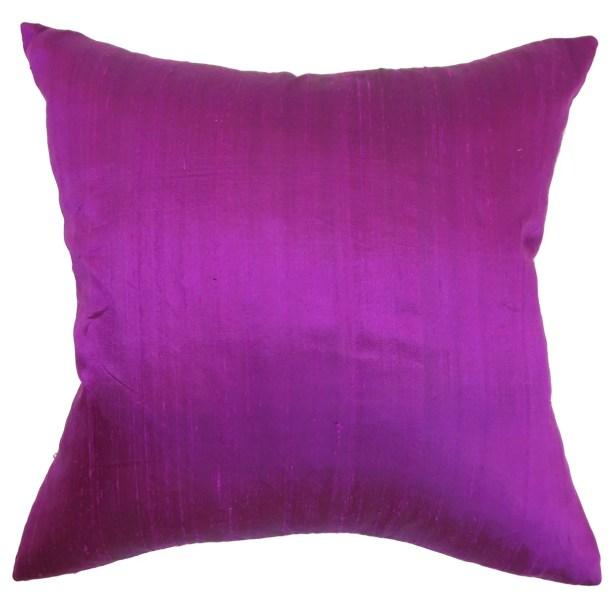 Ekati Plain Silk Throw Pillow Size: 24
