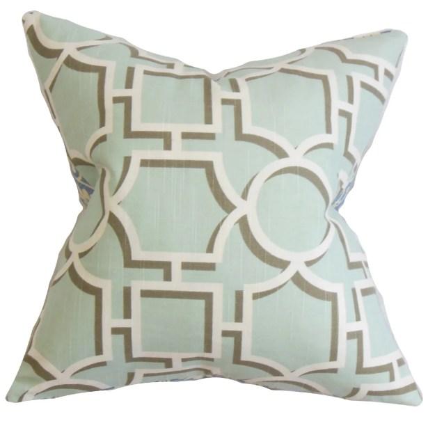Kenn Geometric Bedding Sham Color: Aqua, Size: Queen