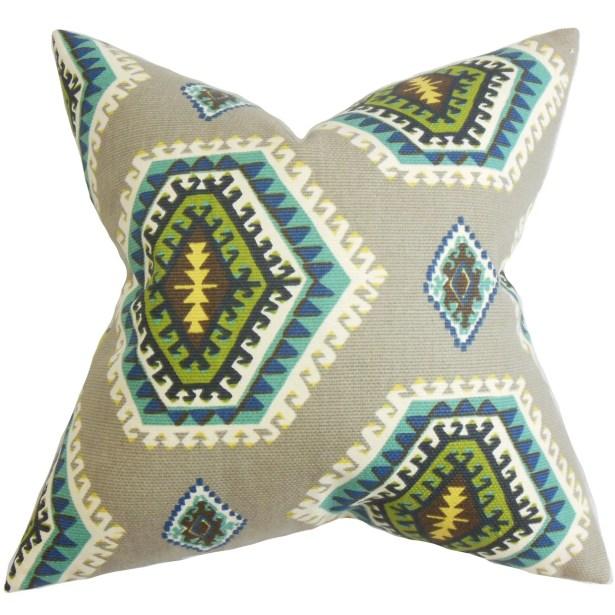 Lorne Geometric Cotton Throw Pillow Size: 22