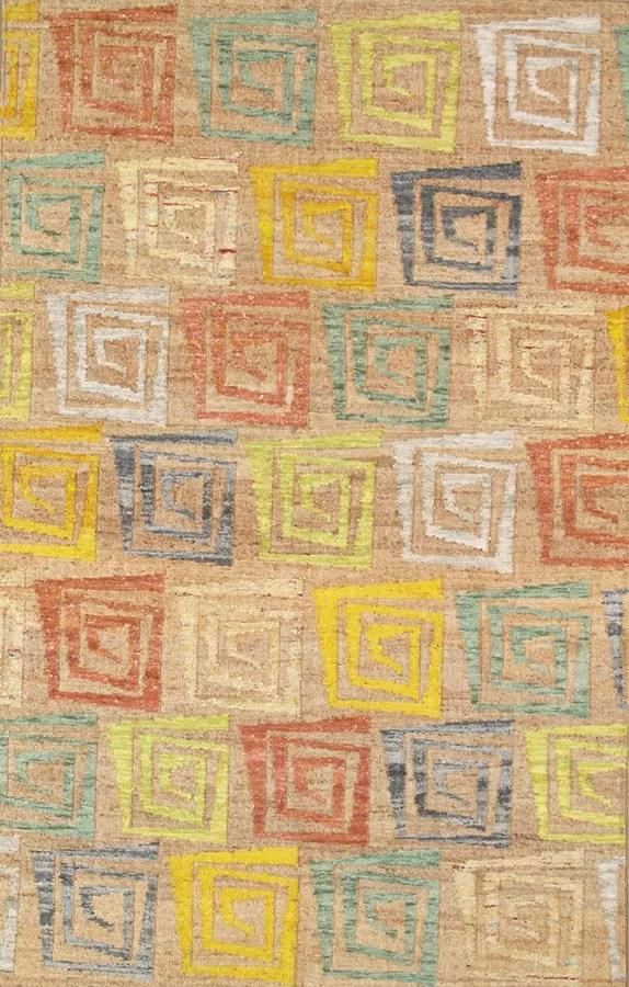 Sumak Vegetable Dye Hemp and Sari Silk Area Rug Rug Size: 8' x 11'