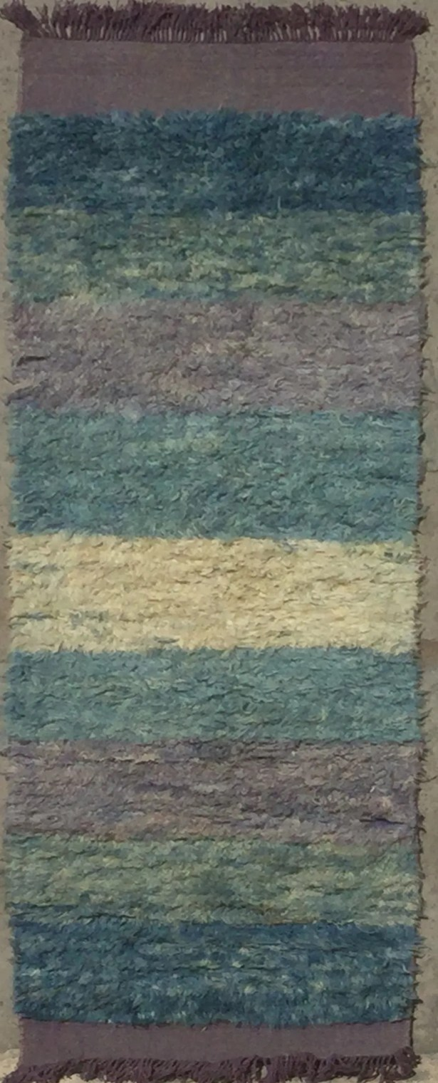 Moroccan Hand-Knotted Teal/Blue Area Rug