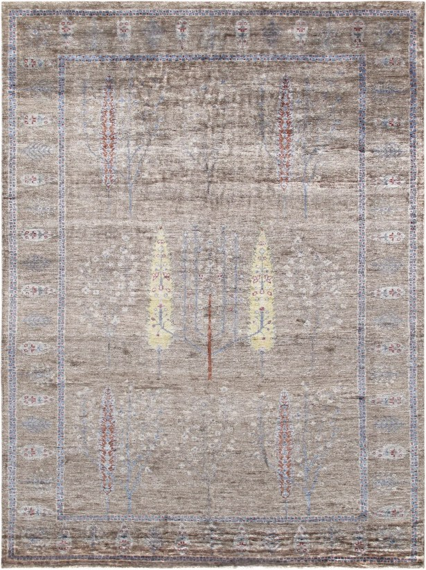 Gabbeh Hand-Knotted Wool Light Brown Area Rug
