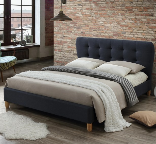 Brydon Upholstered Full Platform Bed Color: Charcoal Gray, Size: Queen