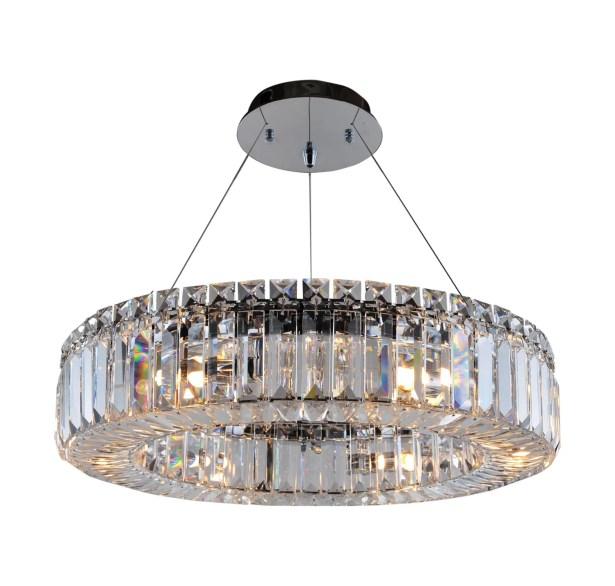 Rondelle 6-Light Crystal Chandelier