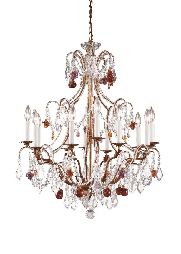 Beaded 12-Light Candle Style Chandelier