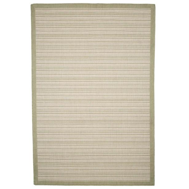 Green/Beige Indoor/Outdoor Area Rug Rug Size: Rectangle 5' x 8'