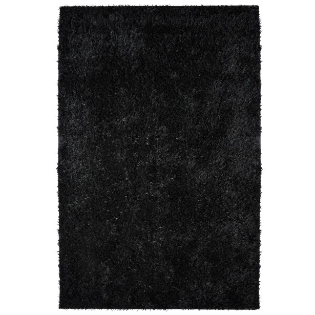 City Shag Black Area Rug Rug Size: 5' x 7'6