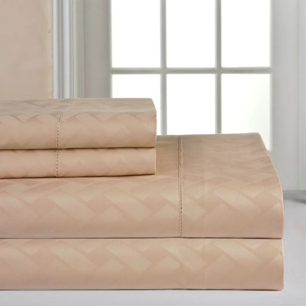 410 Thread Count Sheet Set Size: Extra-Long Twin, Color: Camel
