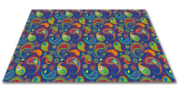 Paisley with ABC Indoor/Outdoor Area Rug Rug Size: Rectangle 9' x 12'