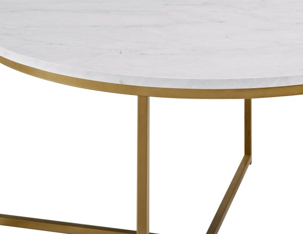 Wasser Coffee Table Color: White