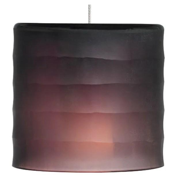 Bali Monopoint 1-Light Drum Pendant Base Finish: Antique Bronze, Shade Color: Amethyst, Bulb Type: LED