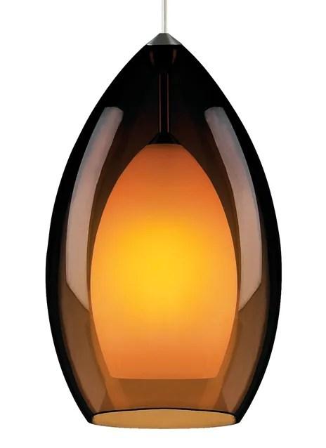 Fire Grande 1-Light Cone Pendant Finish: White, Shade Color: Havana Brown