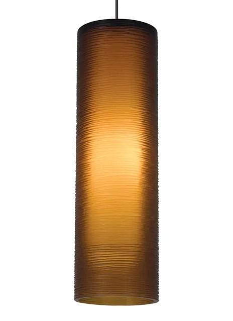 Borrego 1-Light Cylinder Pendant Shade Color: Amber, Finish: Satin Nickel