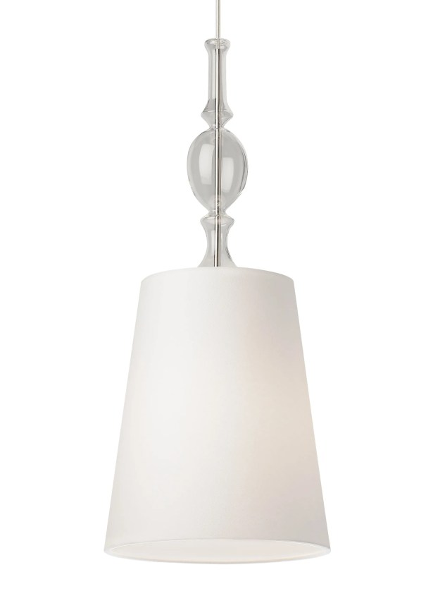 Iliana 1-Light Cone Pendant Bulb Type: Compact Fluorescent 277V, Finish: Satin Nickel, Shade Color: White