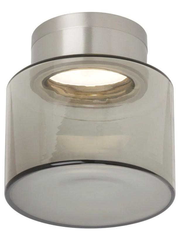 Casen 1-Light Semi Flush Mount Shade Color: Smoke, Bulb Type: 80 CRI 3000K 277 V LED