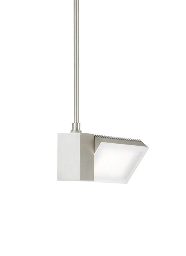 IBISS 1-Light Geometric Pendant Finish: Satin Nickel, Bulb Color Temperature: 2700K, Size: 12