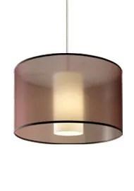 Dillon 1-Light Pendant Finish / Shade / Bulb Type / Volts: Satin Nickel / Brown / Incandescent / 120