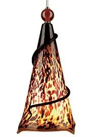 Ovation 1-Light Cone Pendant Finish: Satin Nickel, Shade: Tortoise Shell, Ball: No Ball