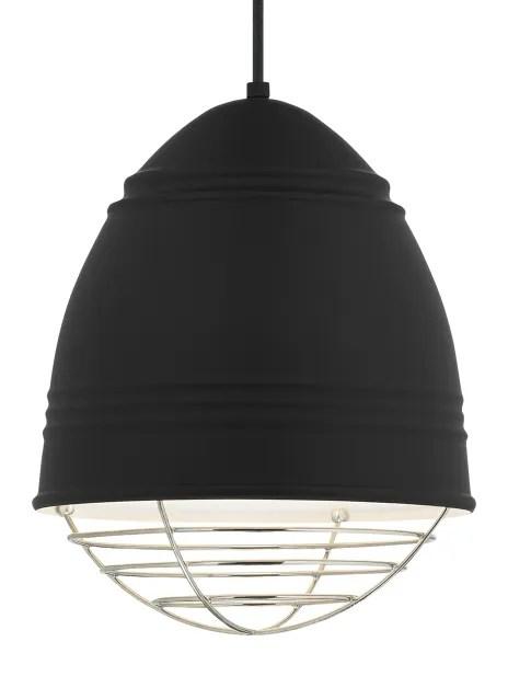 Rider 1-Light Novelty Pendant Bulb Type: A19 LED 90 CRI 2700K 120V (T20/T24), Shade Color: Black, Finish: Rubberized Black/White Interior