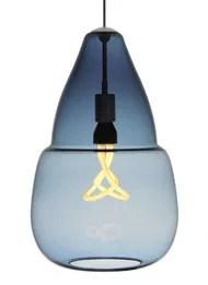 Capsian 1-Light Teardrop Pendant Finish: Satin Nickel, Color: Blue / Steel Blue, Bulb Type: 1 x 60W Incandescent