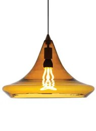 Mali 1-Light Teardrop Pendant Finish: Antique Bronze, Color: Amber, Bulb Type: 1 x 11W Fluorescent