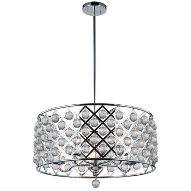 Carelton 5-Light Drum Chandelier Finish: Polished Chrome