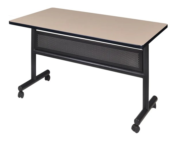 Marin Training Table with Wheels Tabletop Finish: Cherry, Size: 29