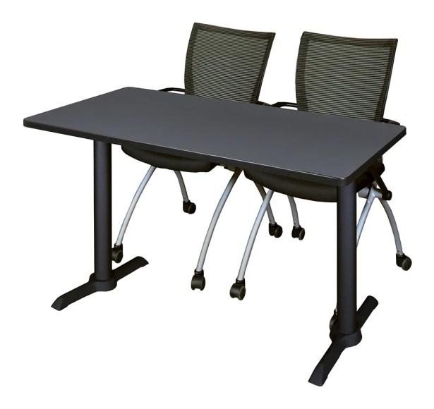 Hendrix Training Table with Chairs Tabletop Finish: Mocha Walnut, Size: 66
