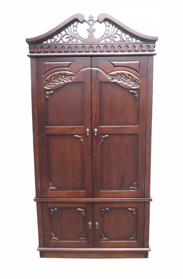 Brianna Carved Top Armoire
