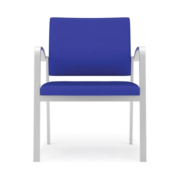 Newport Oversize Guest Chair Fabric: Core Eve - Solid Fabric, Frame Color: Silver