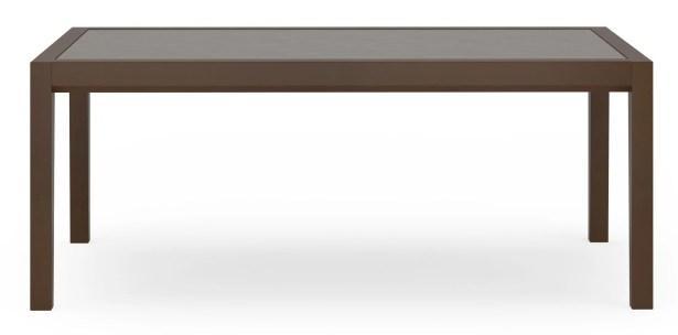 Brooklyn Coffee Table Top Color: Earthen Twill, Base Color: Medium