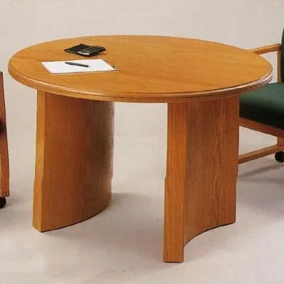 Contemporary Series Circular Conference Table Finish: Black, Profile: Bevel, Size: 3' 6