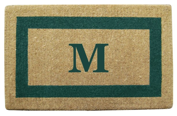 Single Picture Frame Personalized Monogrammed Doormat Color: Green