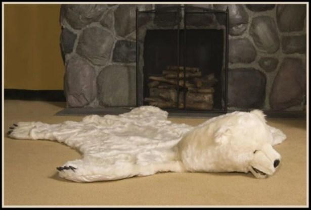 White Bear Area Rug