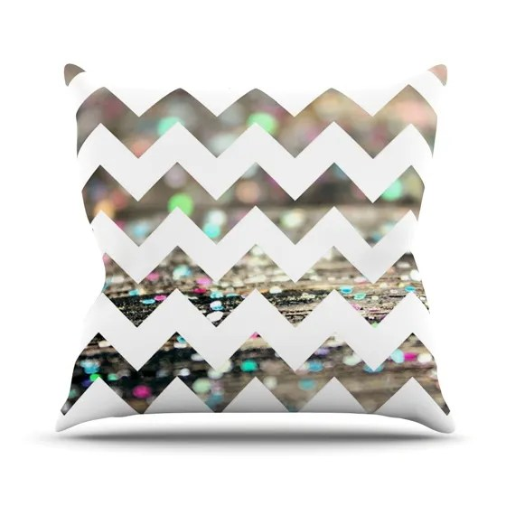 After Party Chevron by Beth Engel Throw Pillow Size: 26'' H x 26'' W x 1