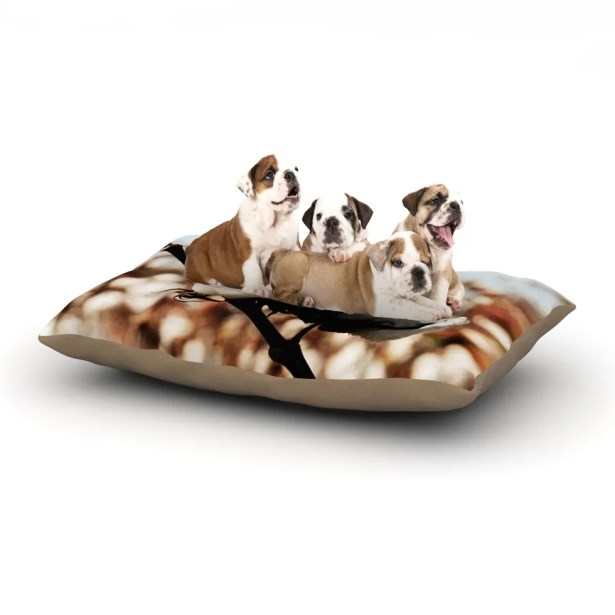 Beth Engel 'Southern Snow' Cotton Dog Pillow with Fleece Cozy Top Size: Small (40