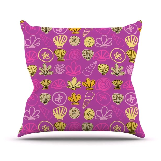 Under the Sea Mermaid by Jane Smith Throw Pillow Size: 26