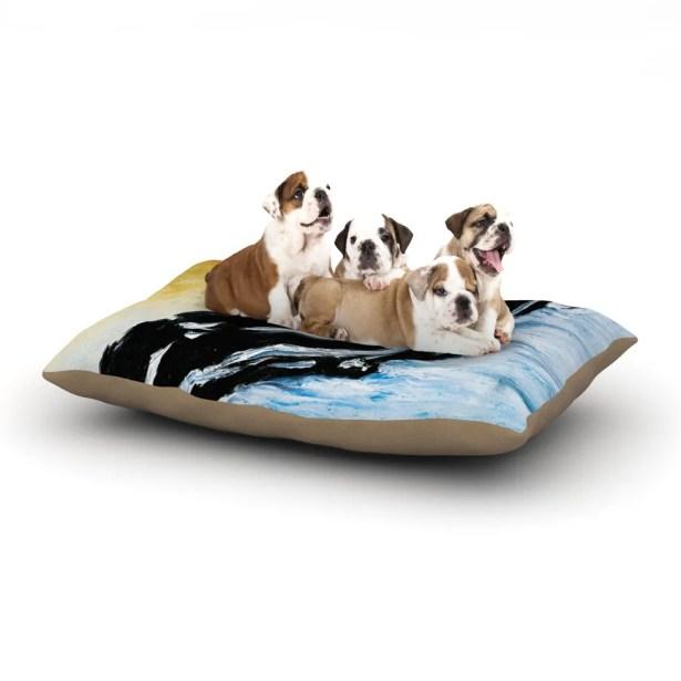 Josh Serafin 'Hangin' 10' Dog Pillow with Fleece Cozy Top Size: Small (40