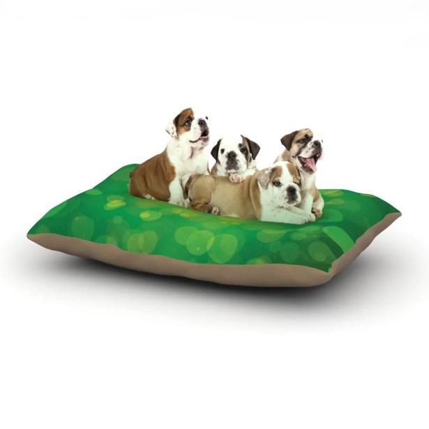 'Radioactive' Bokeh Dog Pillow with Fleece Cozy Top Size: Small (40