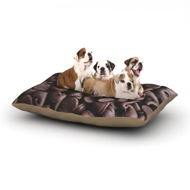 Libertad Leal 'Yay! Chocolate' Candy Dog Pillow with Fleece Cozy Top Size: Small (40