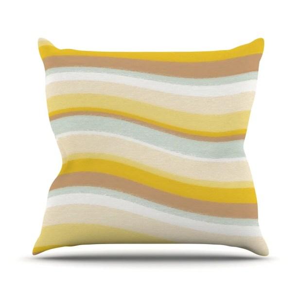 Desert Waves Throw Pillow Size: 26