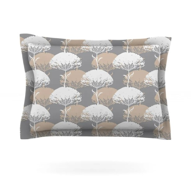 Charming Tree by Julia Grifol Featherweight Pillow Sham Size: King, Fabric: Cotton