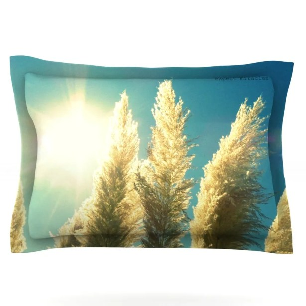 Ornamental Grass by Robin Dickinson Featherweight Pillow Sham Size: King, Fabric: Cotton