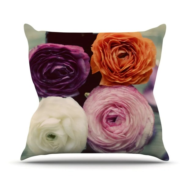 Four Kinds of Beauty by Cristina Mitchell Roses Throw Pillow Size: 26'' H x 26'' W x 1