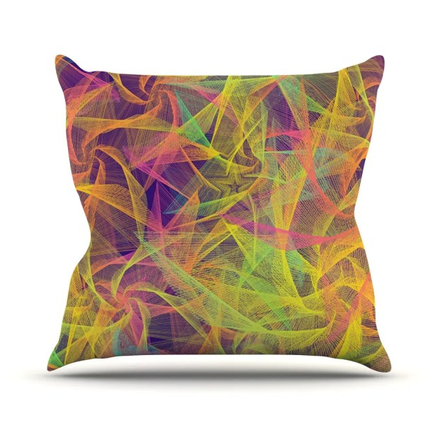 Blend Everywhere by Danny Ivan Abstract Throw Pillow Size: 26'' H x 26'' W x 1