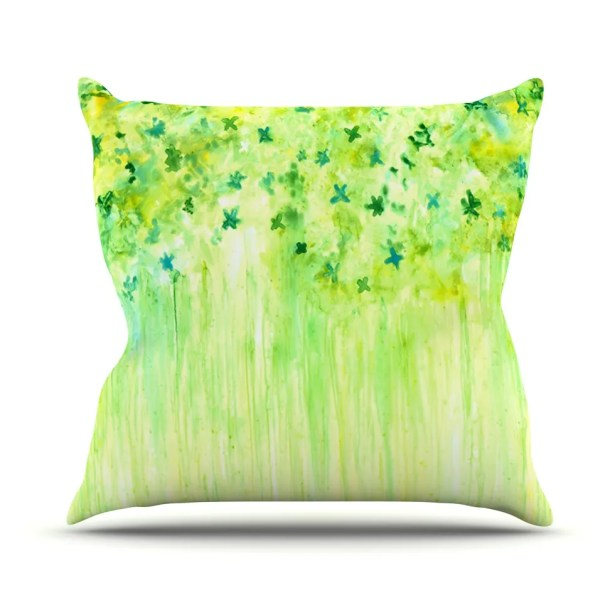 April Showers by Rosie Brown Throw Pillow Size: 26