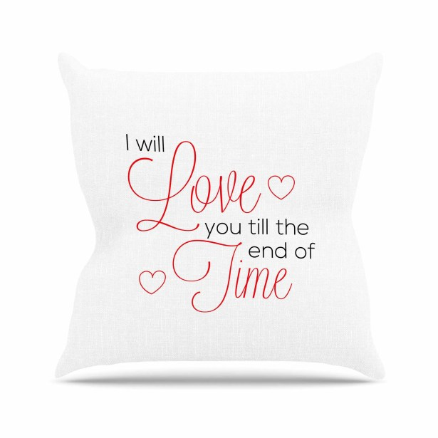 I Will Love You Throw Pillow Size: 26'' H x 26'' W